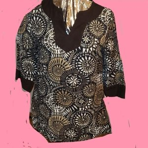 4/35 EAST 5TH TUNIC SZ S COTTON SIDE ZIP